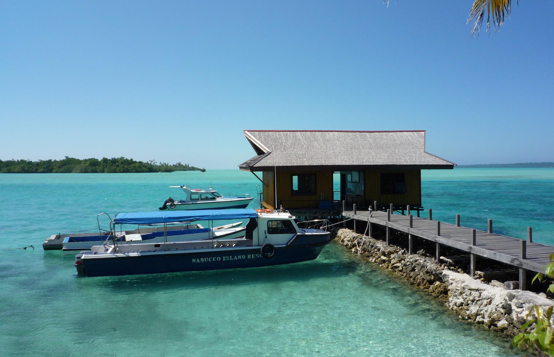 Anlegestelle für Boote im Nabucco Island Resort