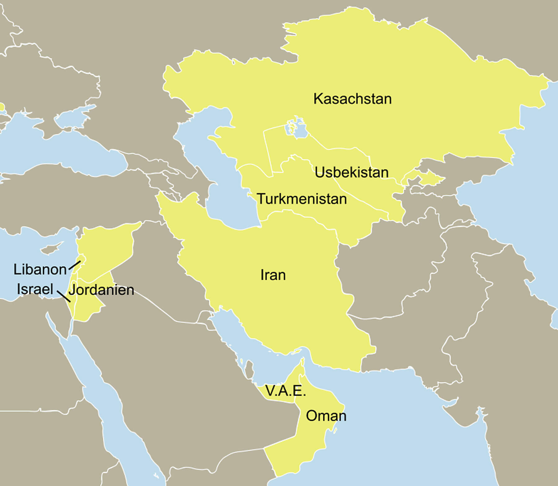Karte Arabien und Orient