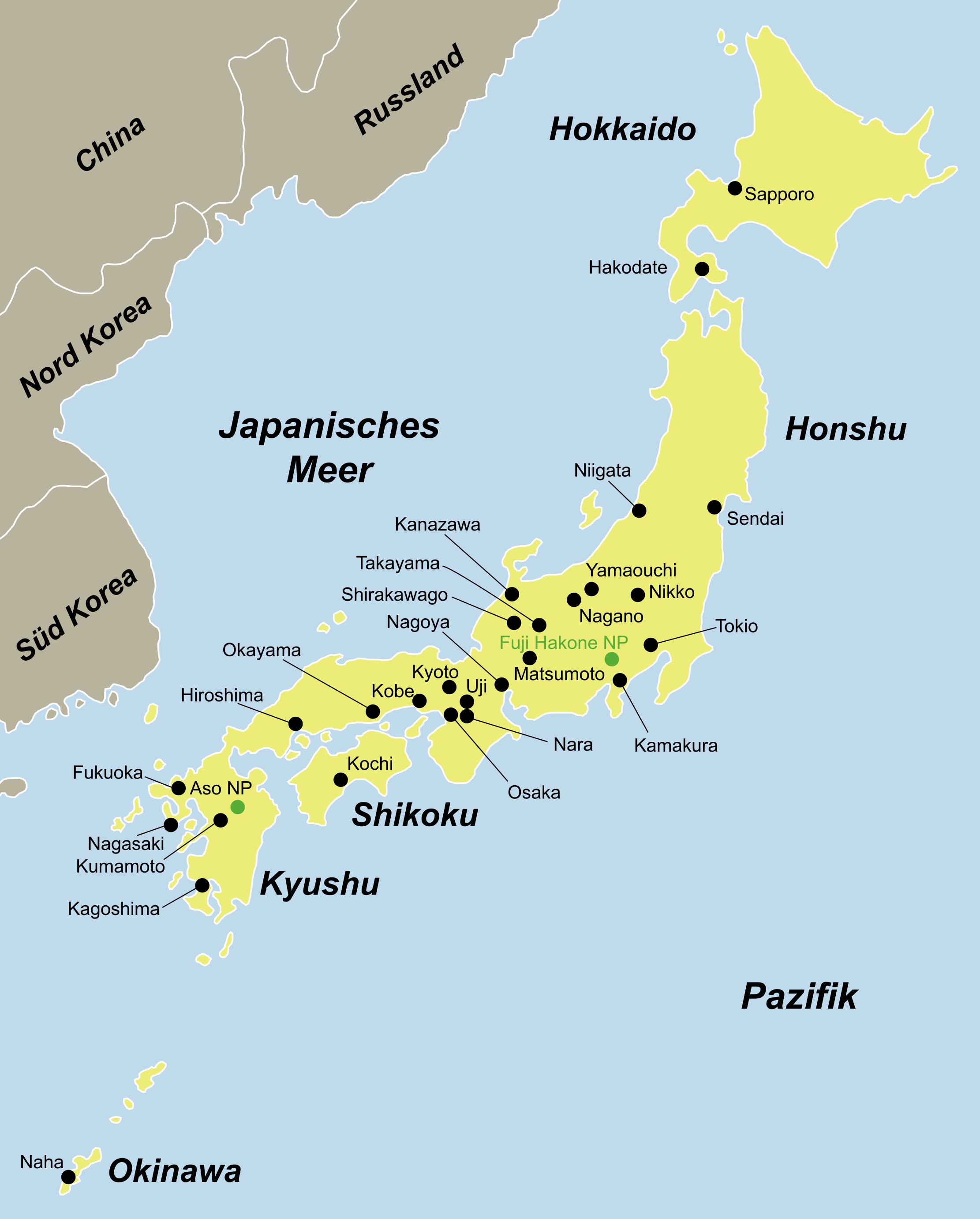 japan strände
