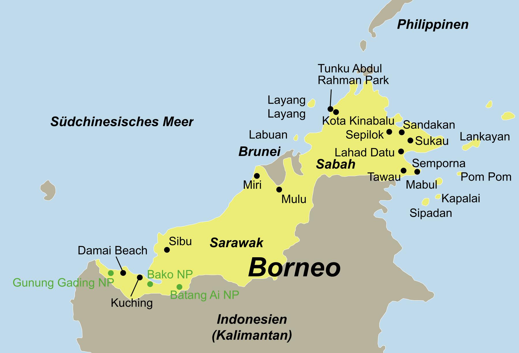 Malaysia Borneo Reise
