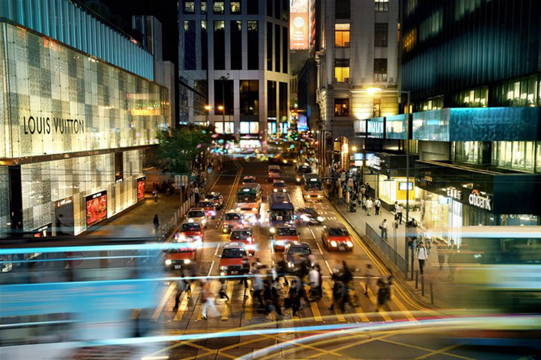 Einkaufsstraße im Zentrum von Hongkong