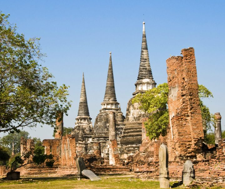 Phra Si Sanphet Temple is located in Ayutthaya Historical Park, Phra Nakhon Si Ayutthaya