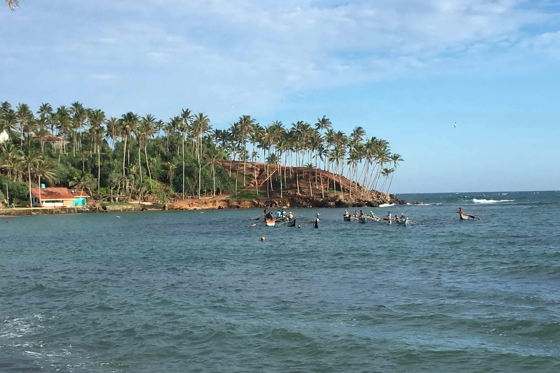 Die Turtlebucht in Mirissa ist nicht nur unter Wasser toll zum Schnorcheln, sondern bietet auch über Wasser einen schönen Anblick