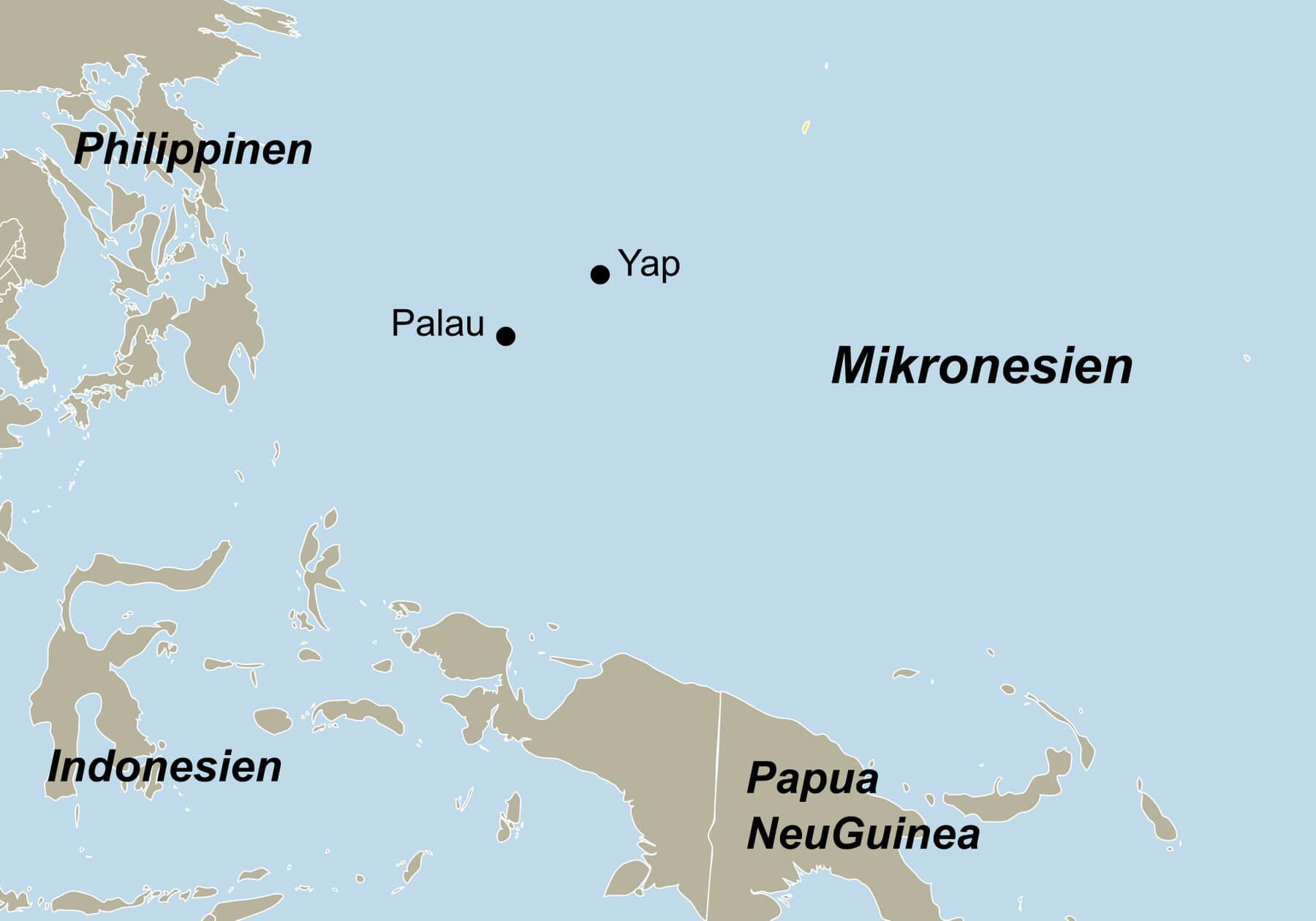 Karte Mikronesien Palau