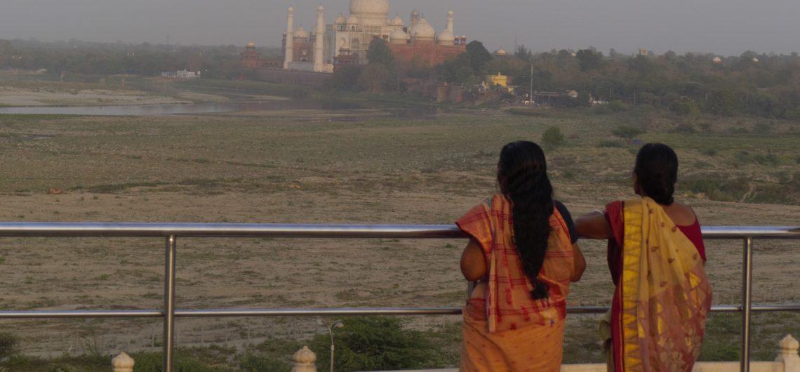 Toller Blick in Agra Fort Blick auf das Taj Mahal,