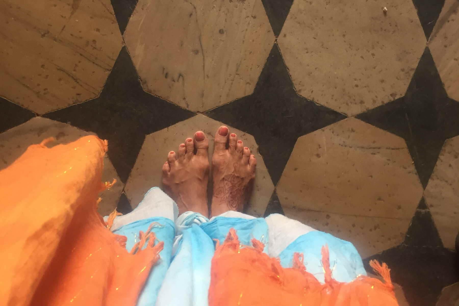 Die Tempel in Indien dürfen nur Barfuss betreten werden