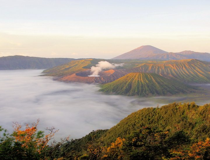 Vulkan Mount Bromo auf Java in Indonesien