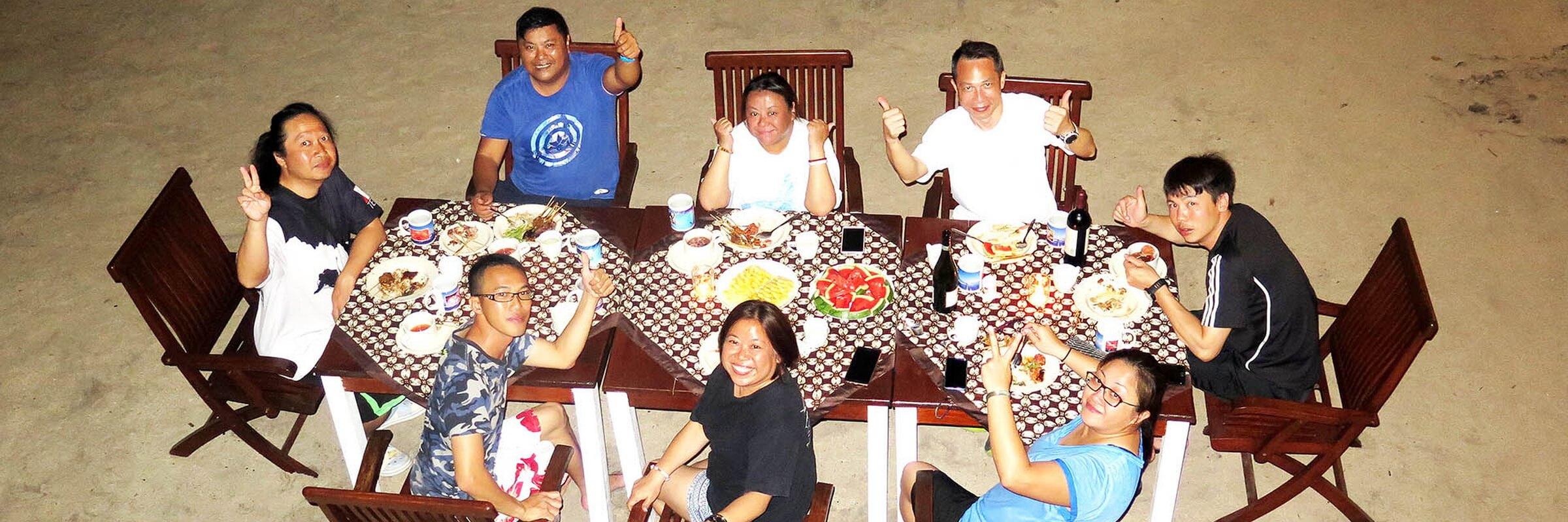 In der Derawan Dive Lodge werden vorwiegend indonesische Gerichte mit viel Seafood und frischem Gemüse angeboten.