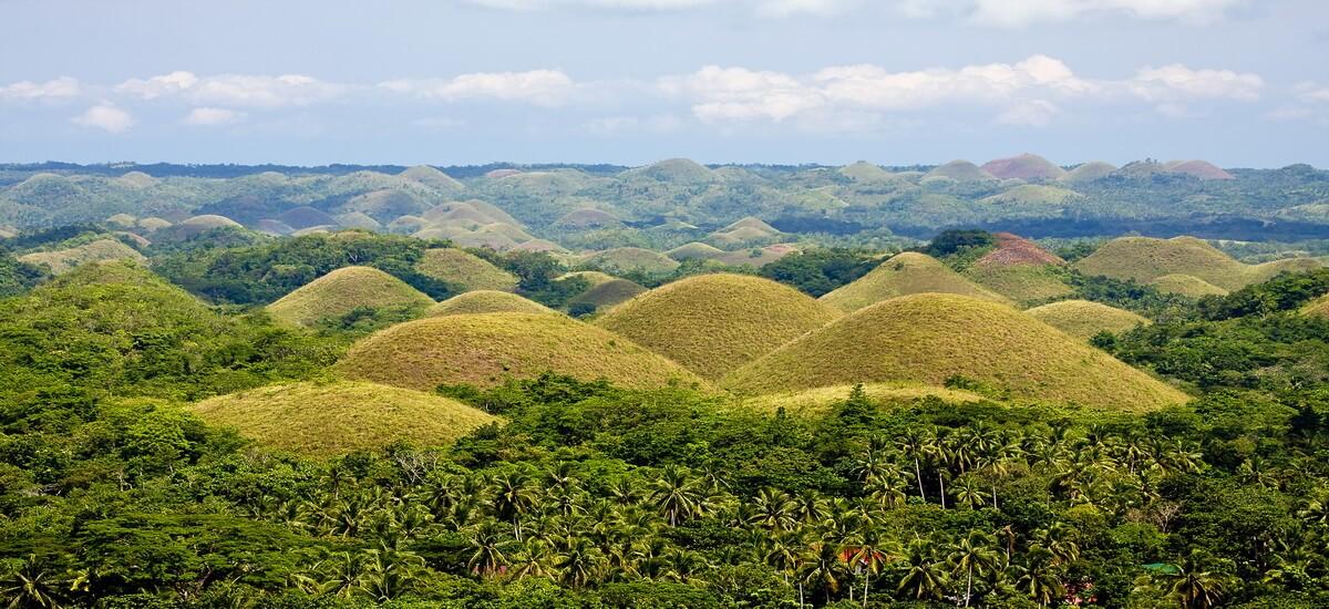 Die Hügel von Bohol auf den Philippinen