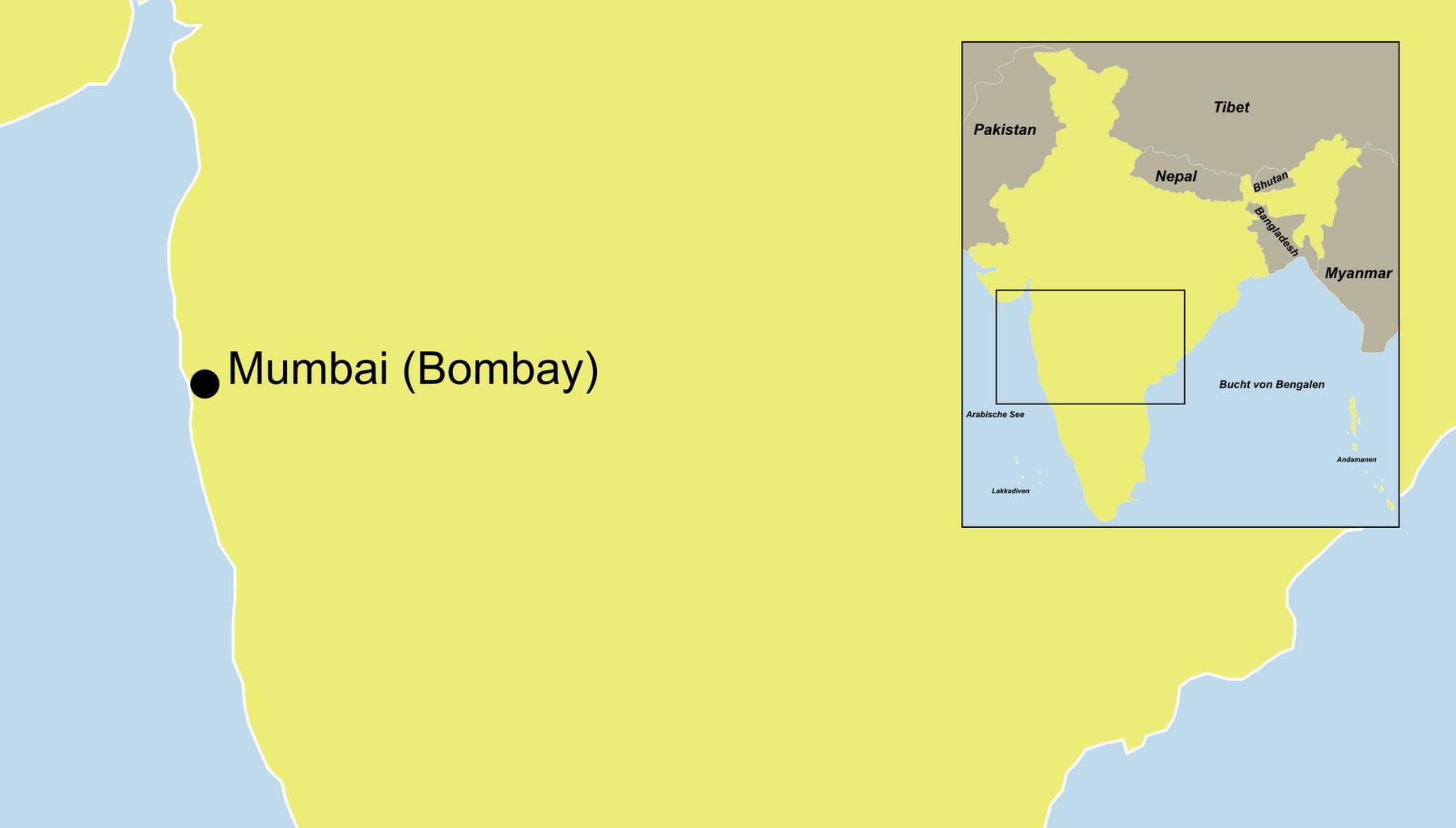 Die Bombay Mumbai Rundreise führt durch Mumbai.