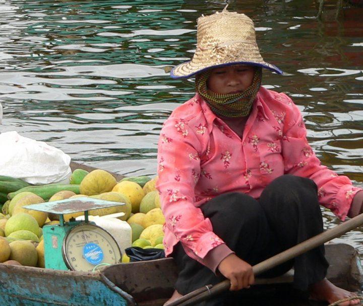 Die Bewohner des Tonle Sap Sees leben hauptsächlich vom Anbau von Reis und Früchten sowie der Fischerei, die Erträge werden dann auf lokalen Märkten zum Verkauf angeboten.