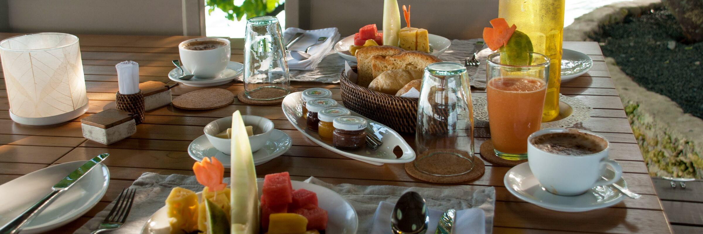 Neben dem vielseitigen Angebot an Speisen und Gerichten wird im Virgin Cocoa auch ein reichhaltiges Frühstück serviert.