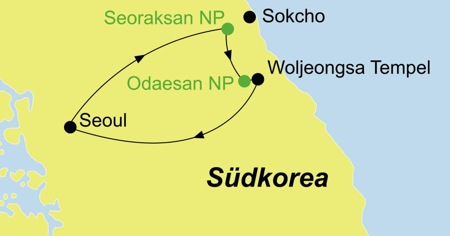 Die Korea Rundreise führt entlang der Grenze zwischen Nord- und Südkorea.