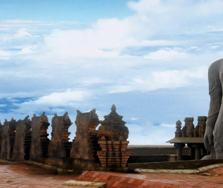 Die Statd Shravanabelagola im südindischen Bundesstaat Karnataka gilt als eines der wichtigsten Pilgerzentren des Jainismus in Indien.