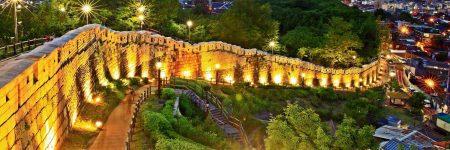 Seouls Stadtmauer wurde im 14. Jahrhundert gebaut, um die Stadt vor Tigern zu schützen.