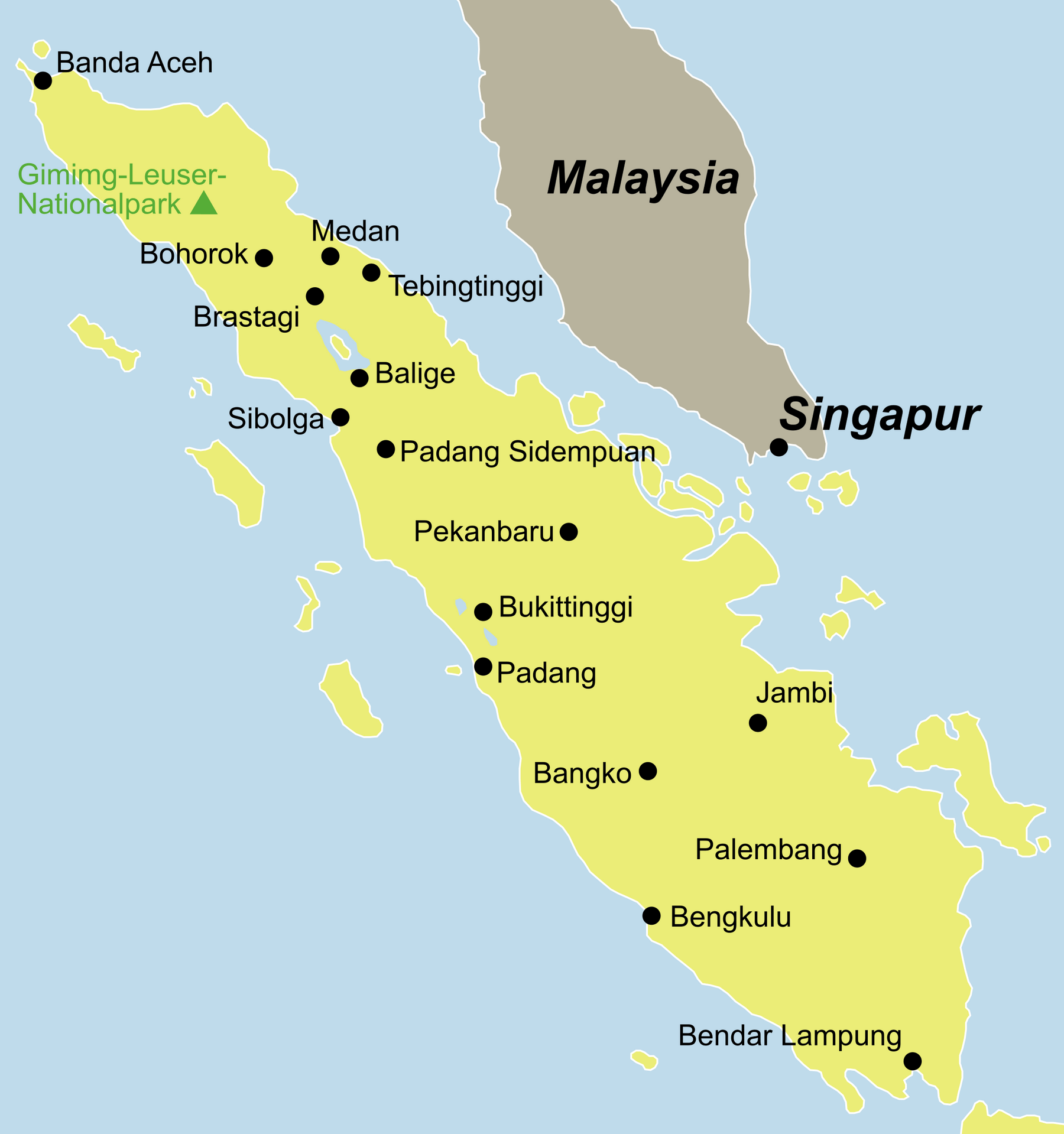 Sumatra Karte