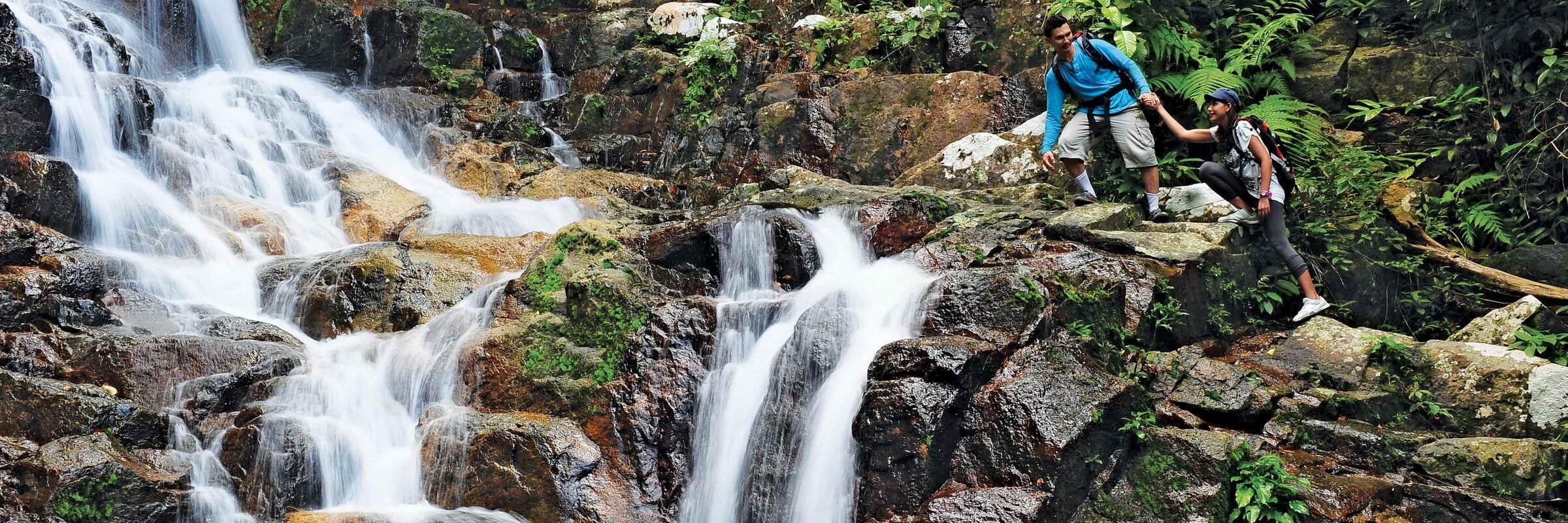 Im Inneren der malaiischen Insel Tioman befindet sich ein Naturreservat, das mit dichtem, tropischen Dschungel zu ausgedehnten Trekkingtouren einlädt.
