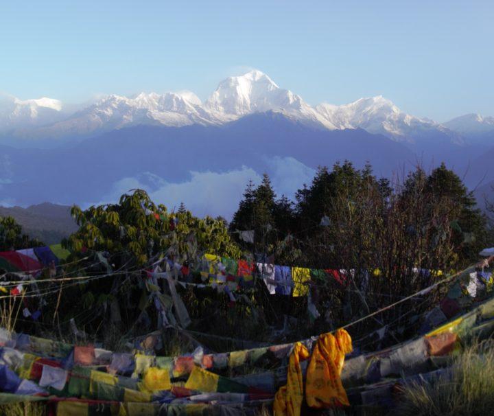 Ausblick von Poonhill Gipfel auf das Annapurna Massiv