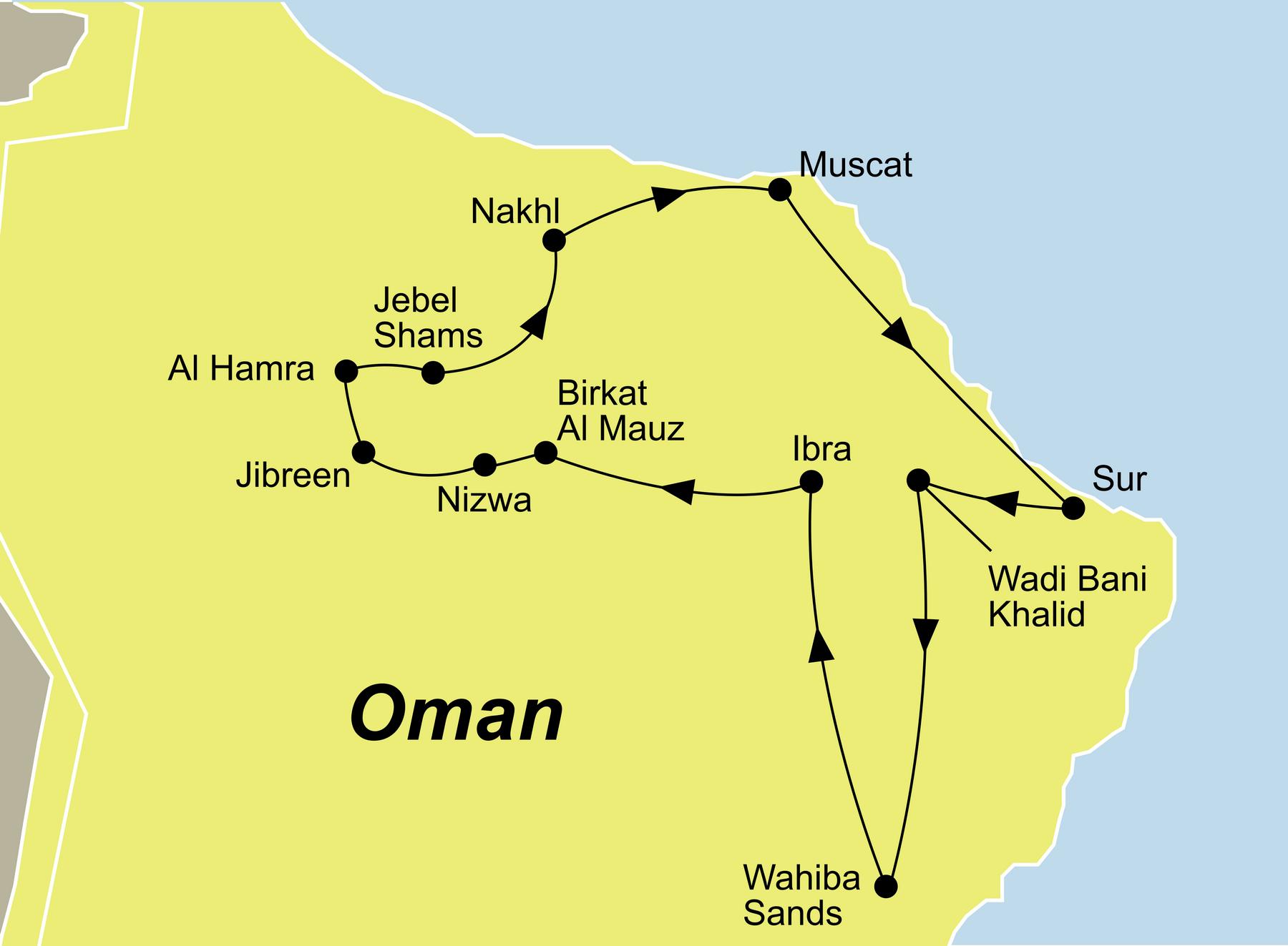 Karte Oman Salalah.Oman Salalah Traumurlaub Rundreise Oman Baden Salalah