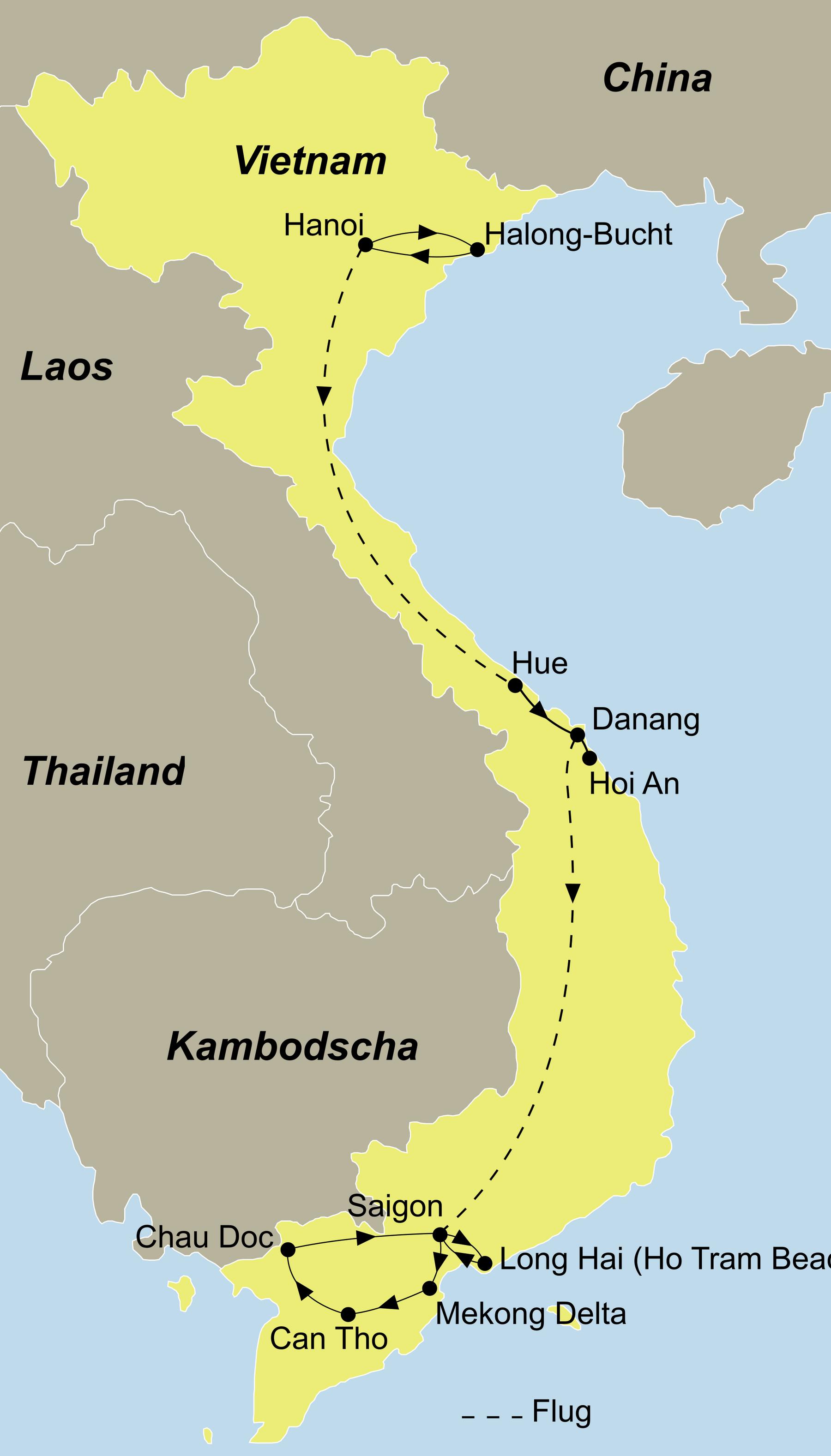 vietnam rundreise und baden