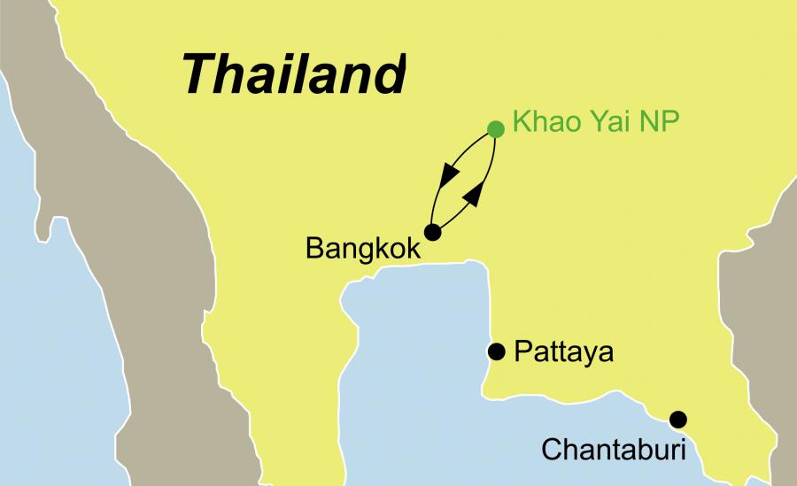 Die Thailand Nationalpark Khao Yai Tour führt nach Bangkok und den Khao Yai Nationalpark.