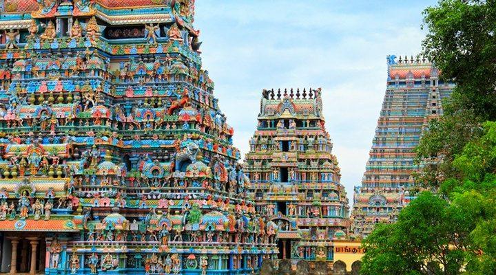 Bunte Tempel von Madras (Chennai)