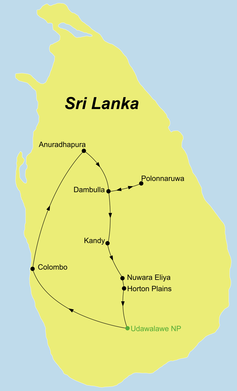 Die Rundreise Perle im indischen Ozean führt von Colombo nach Anuradhapura über Polonnaruwa und Kandy zum Udawalawe Nationalpark