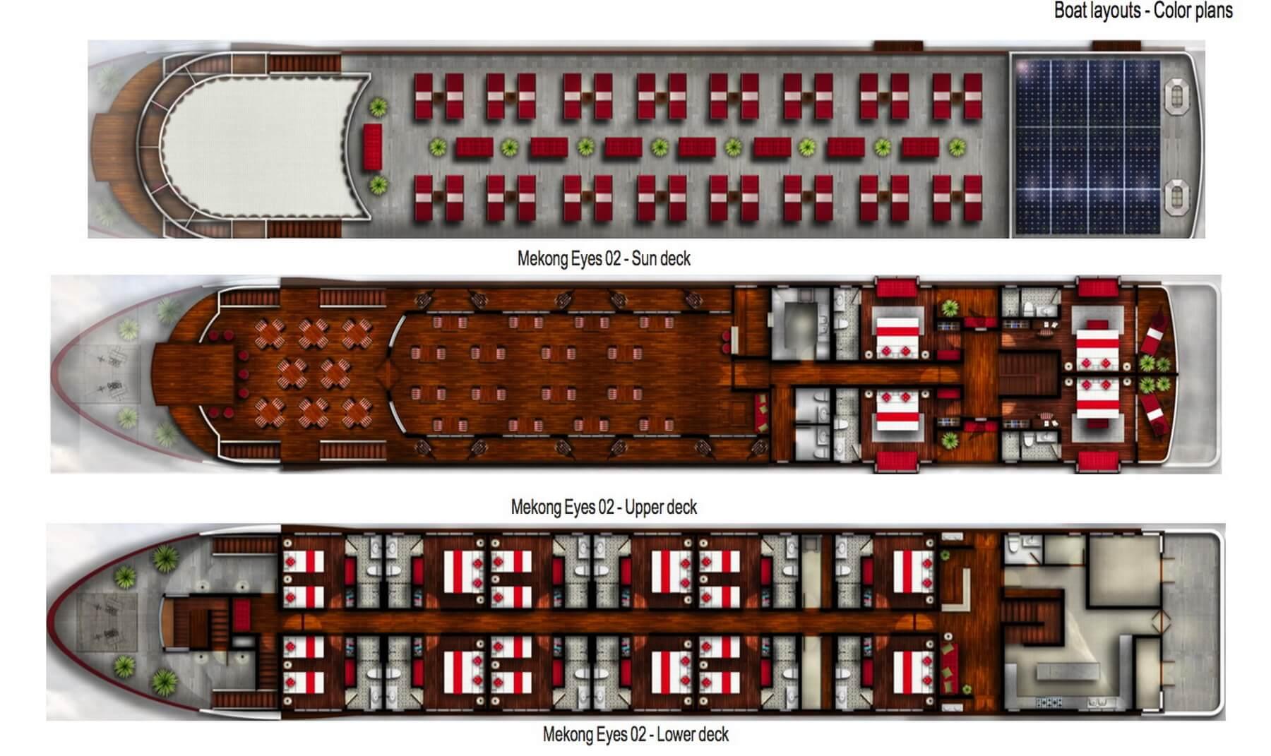 Der Deckplan der Mekong Eyes Explorer