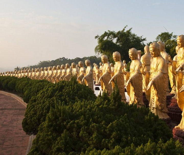 Das Foguangshan Kloster, ungefähr 45 km nordöstlich von Khaosiung gelegen, ist das größte buddhistische Kloster Taiwans.