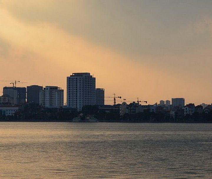 Hanoi im Sonnenuntergang