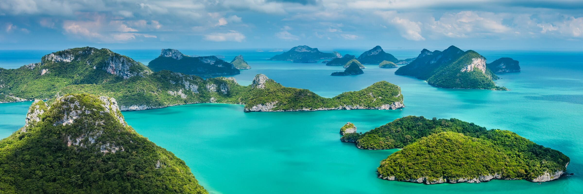 Der Ang Thong Marine Nationalpark umfasst eine Gruppe von 42 Inseln im Golf von Thailand.