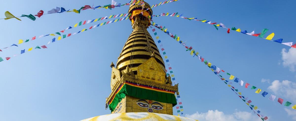Swayambhunath stupa in Kathmandu, Nepal (before the 2015 earthquakes)