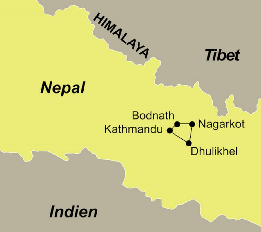 Die Kultur und Wandern Rundreise führt von Kathmandu über Nagarkot nach Patan