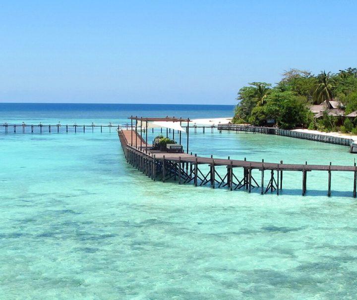 Das Lankayan Island Dive Resort in Sabah in Malaysia liegt auf einer traumhaften kleinen Insel mitten in der Sulu-See.