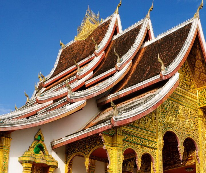 Der ehemalige Königspalast, das heutige Nationalmuseum, in Luang Prabang