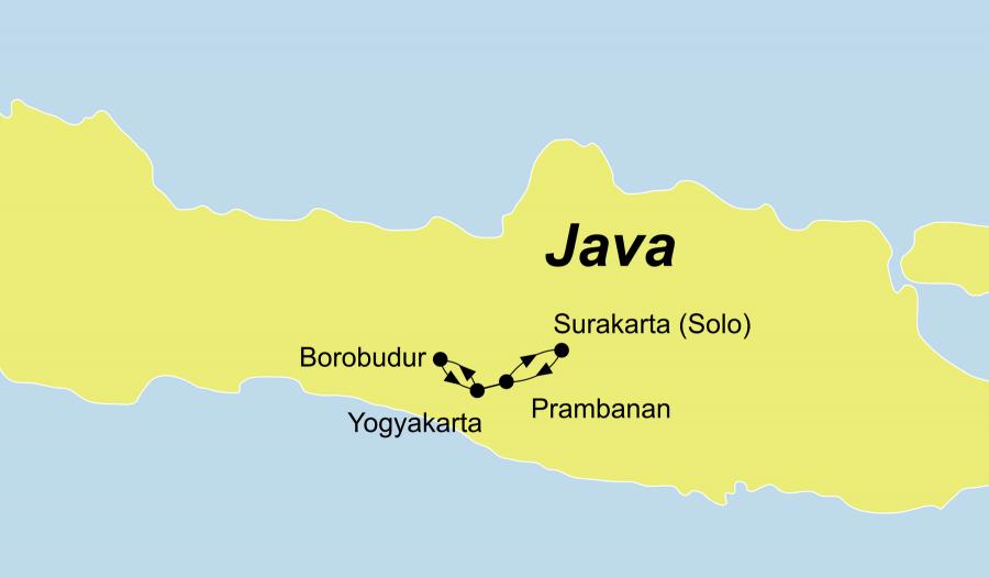 Die Jave Rundreise mit Kultur und Yoga startet ab Yogyakarta