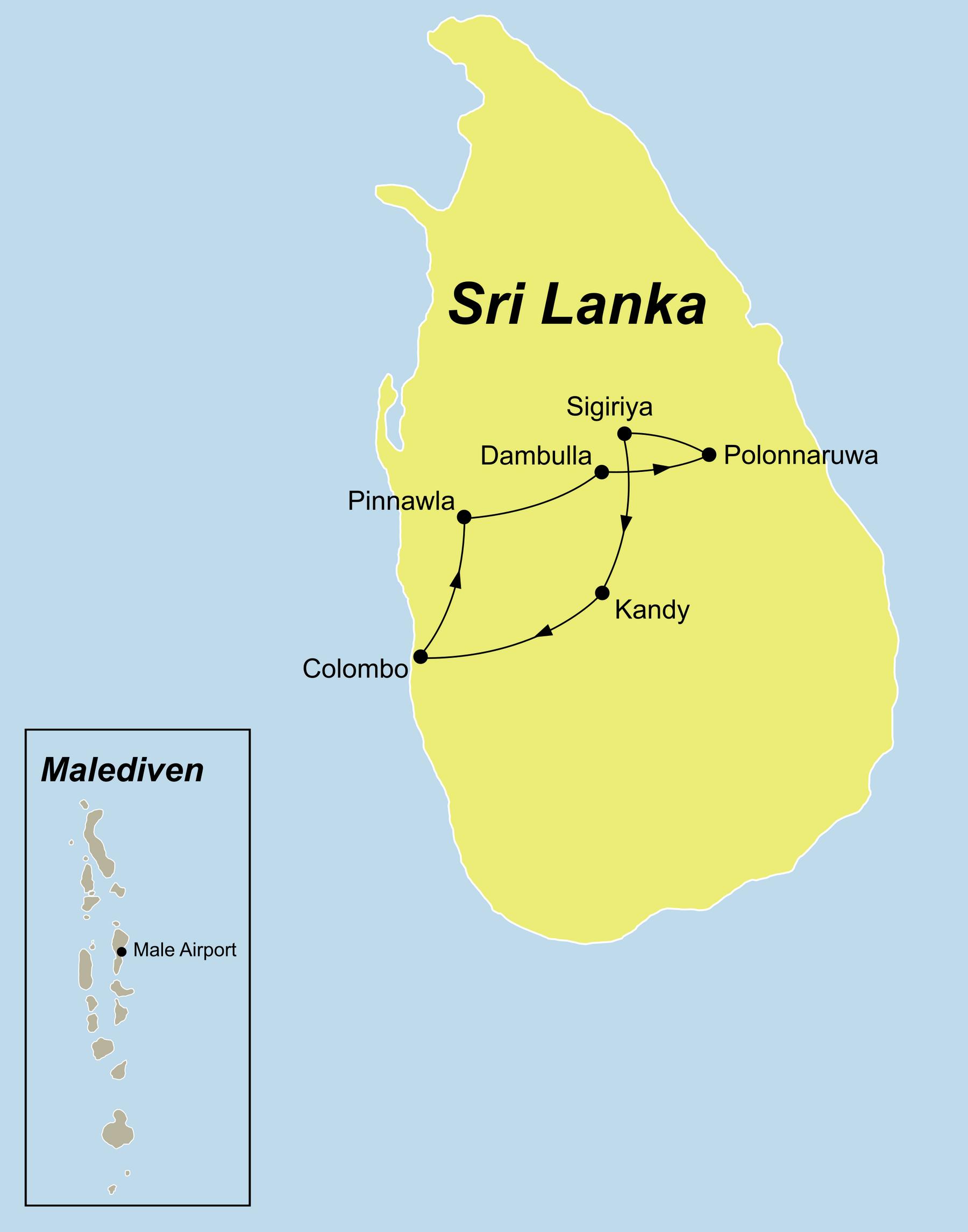 Sri Lanka Karte Zum Drucken.Sri Lanka Und Malediven Rundreise Baden Vom Experten