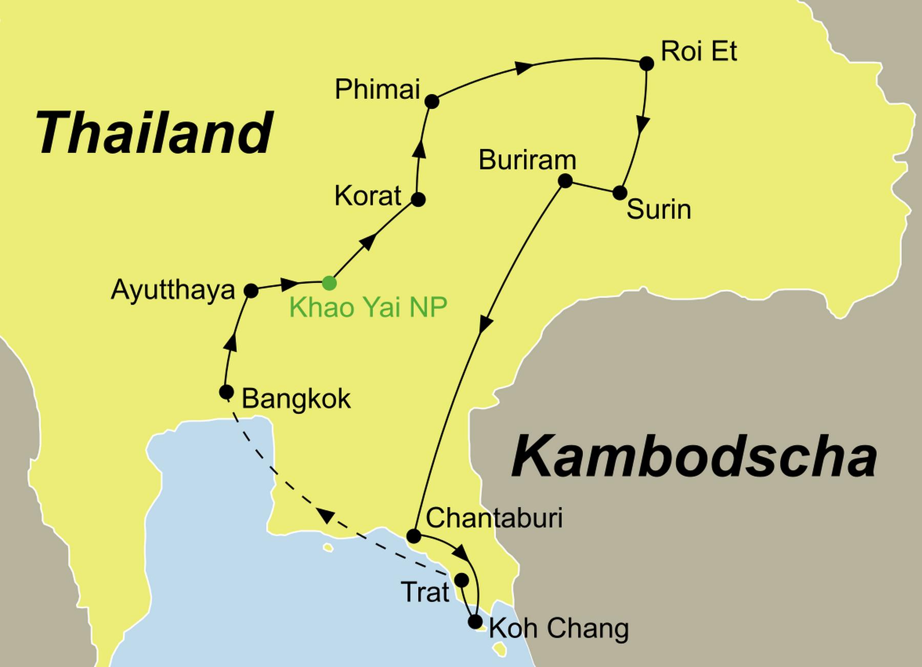 detailed map of korat thailand - HD1800×1301