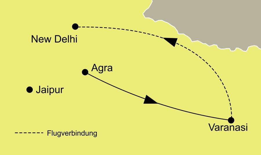 Die Varanasi die heilige Stadt am Ganges Rundreise führt von Agra über Varanasi nach New Dehli
