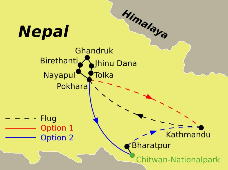 Nepal Trekkingreise Ghandruk Trek