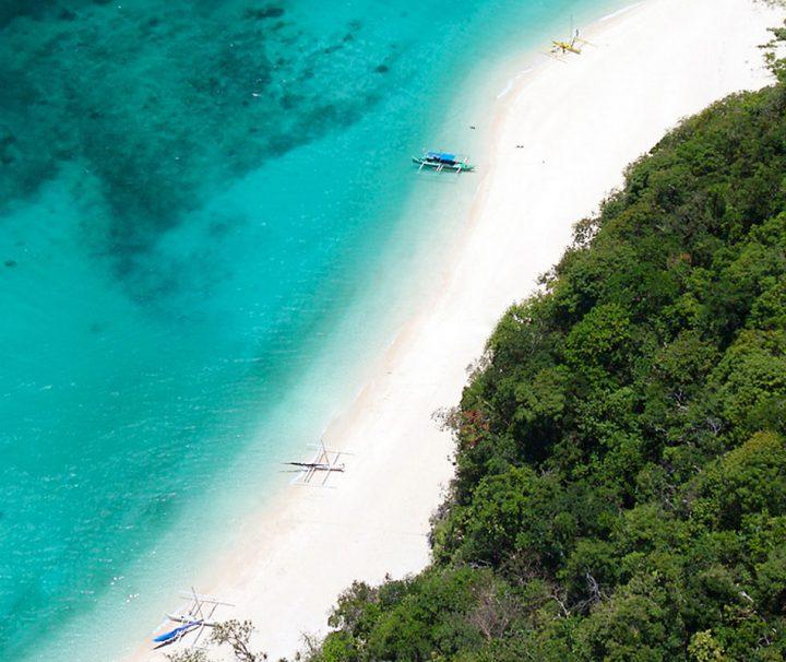 Strand auf der Insel Borocay in den Philippinen