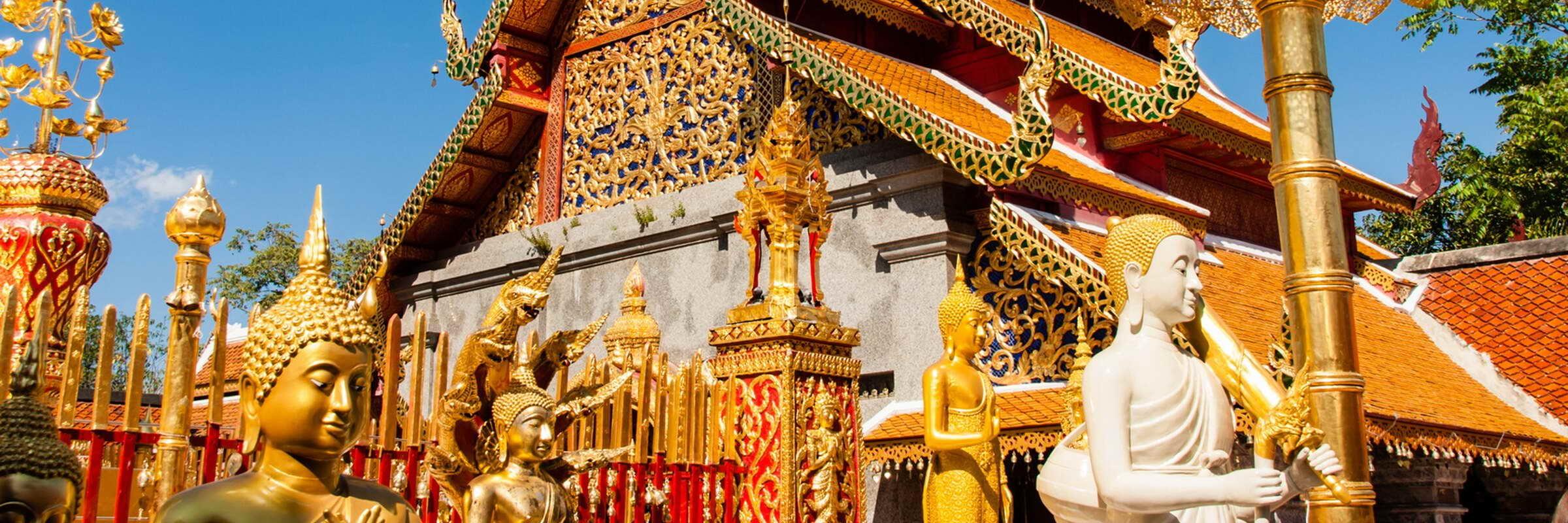 Der Wat Phra That Doi Suthep ist das Wahrzeichen von Chiang Mai und etwa 15 km westlich des Stadtzentrums gelegen.