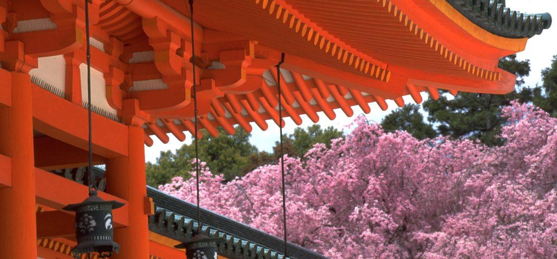 Der Heian Schrein gehoert mit zu den bedeutesten Schreinen in Japan. Er wurde mit der Gruendung der Stadt Kyoto gebaut.