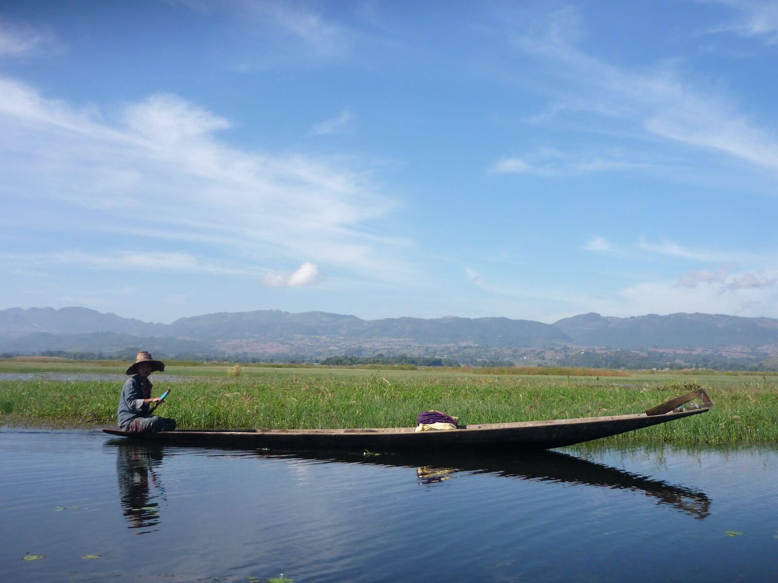 Fischer auf dem Inle See in Myanmar, Burma