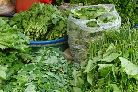 Frisches Gemüse und Gewürze für den Kochkurs in Vietnam