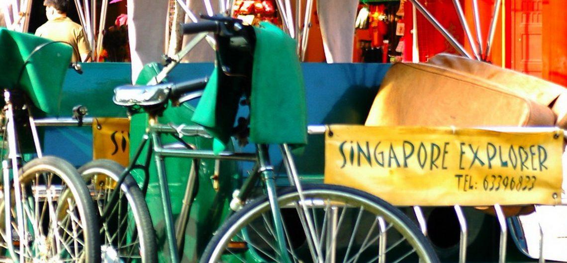 Wie in vielen asiatischen Ländern sind Rikschas auch in Singapur ein verbreitetes und bei Reisenden beliebtes Transportmittel.