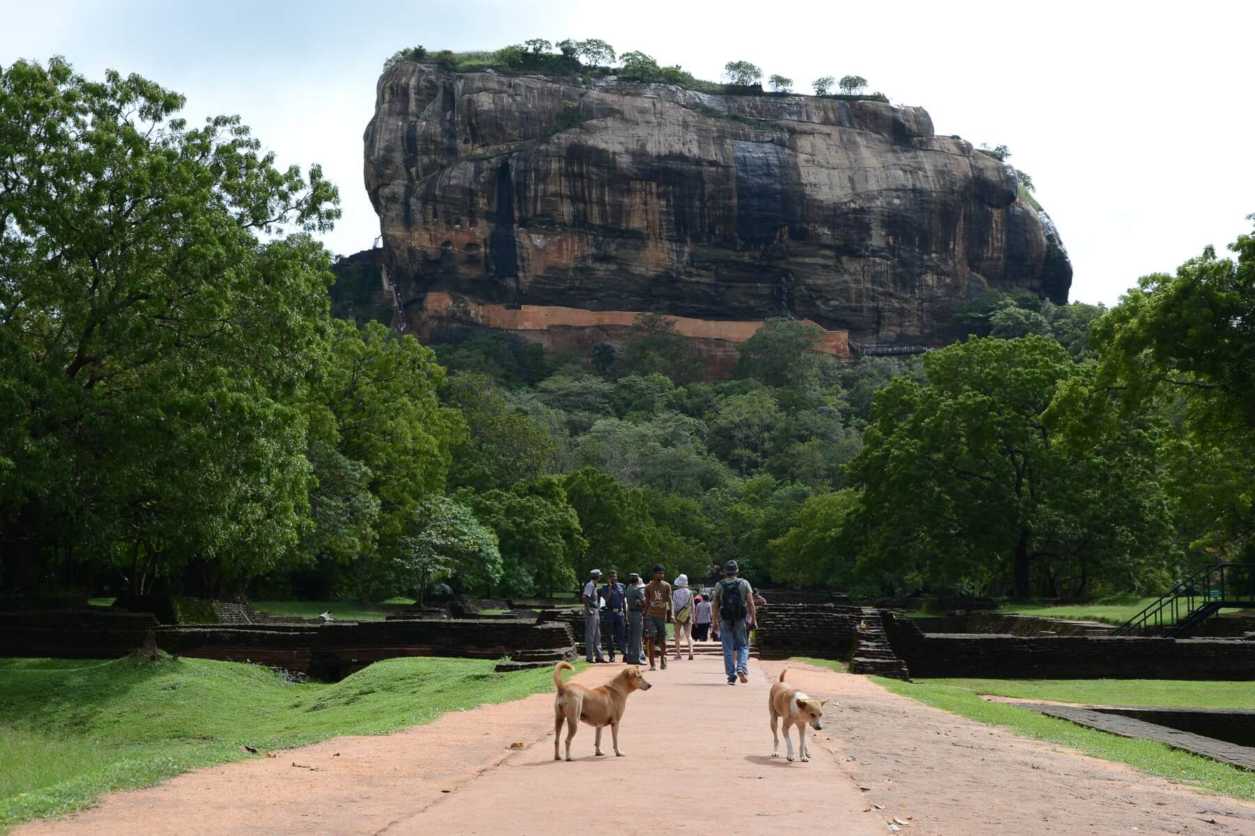 Am Fuße des Sigiriya Rock