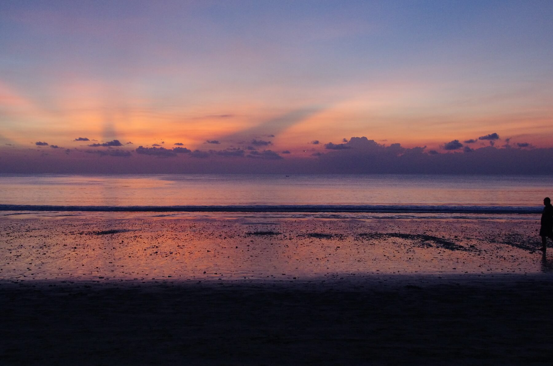 traumhafter Sonnenuntergang in Jimbaran