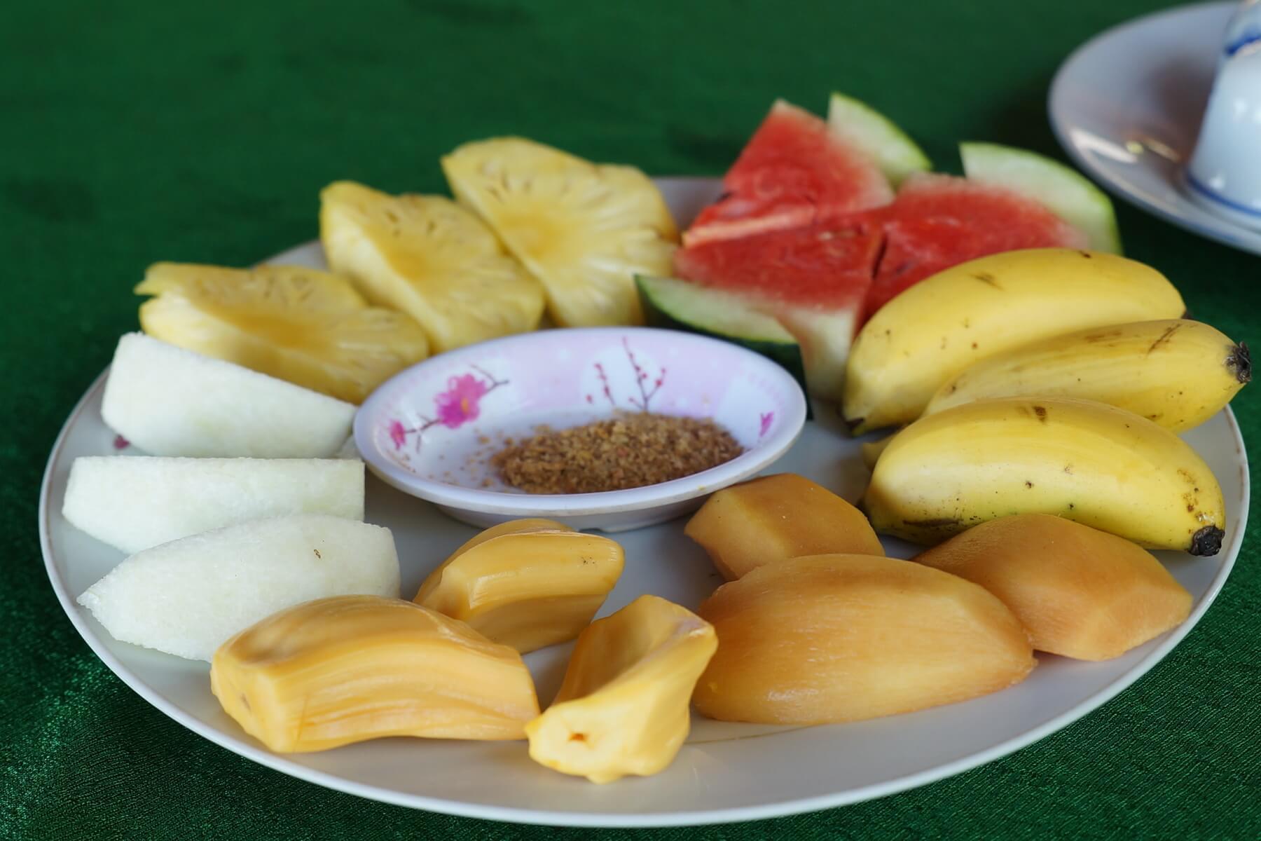 Früchteteller zum TET Festival in Vietnam