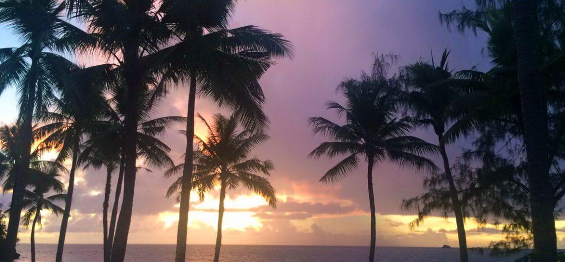 Traumhaft schön, der Sonnenuntergang auf Palau